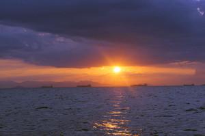 アテネの夕陽