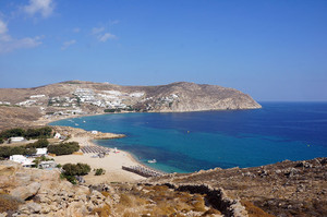 Eliaビーチ上からの眺め