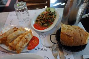 春巻き風ギリシャ料理