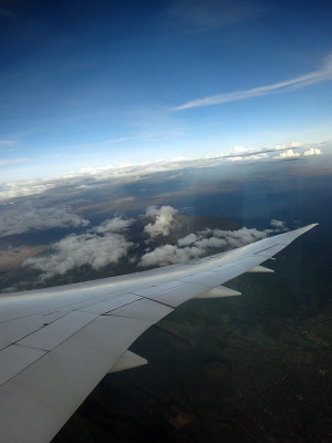 飛行機から見たキリマンジャロ