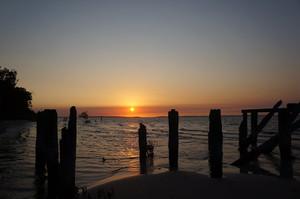 マッケンジー桟橋の夕陽