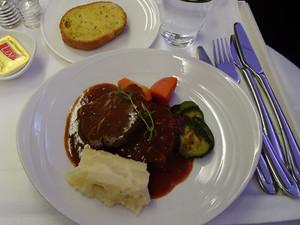 マレーシア航空の食事