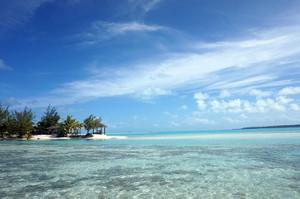 ラグーンリゾートから広がる美しい海