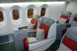 エチオピア航空787のシート