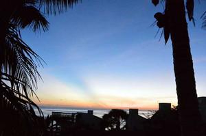ザンジバルの朝日