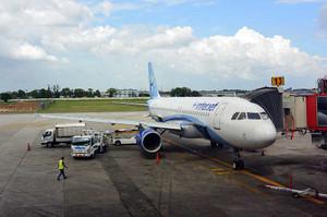 ハバナに到着したインテルジェット