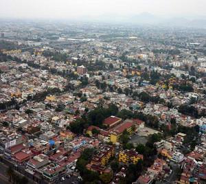 メキシコシティの空港は市街地のすぐそば
