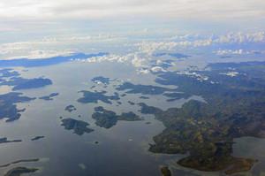 上空から見たパラワン諸島