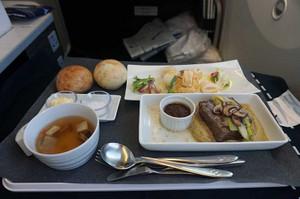 モスクワ行きの機内食