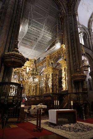 サンティアゴ デ コンポステーラ大聖堂の入口