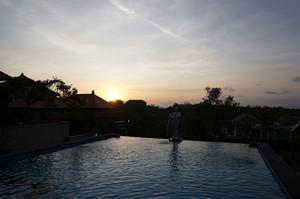 バリ ホテルの夕陽