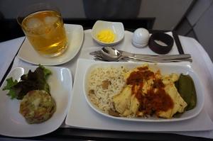 アビアンカ航空の機内食