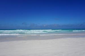 外洋に面したビーチ