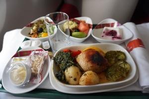 アジスアベバからザンジバル行きの機内食