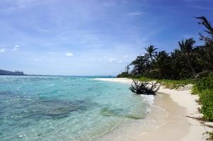 マニャガハ島のビーチ